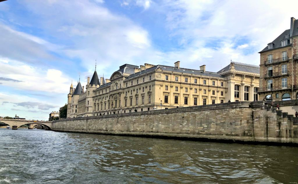 View of buildings alone the Seine