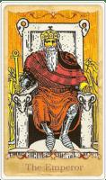 La carta dei tarocchi dell'imperatore basata su Rider-Waite