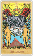 The Lovers Tarot Card basato su Rider-Waite