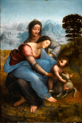 Image: wsj.comLeonardo's 'The Virgin and Child With St. Anne,' will be included in the opening exhibition at the Louvre-Lens.ダヴィンチの「聖母子と聖アンナ」は、オープニングの特別展で展示される。