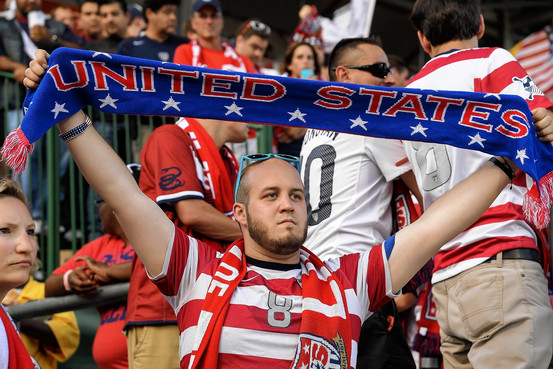 Usa Soccer Fan with scarf