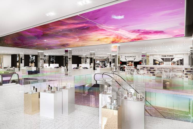 A rendering of the new Saks 5th Avenue beauty floor.