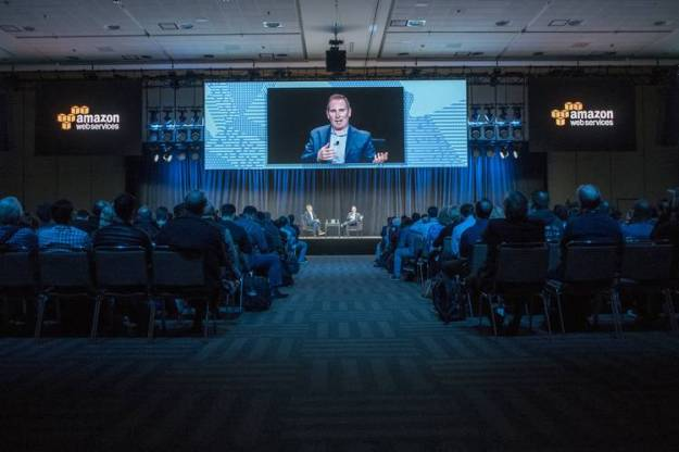 Mr. Jassy, here at a San Francisco event last year, uses an annual Las Vegas conference to announce new products that sometimes compete with Amazon partners.