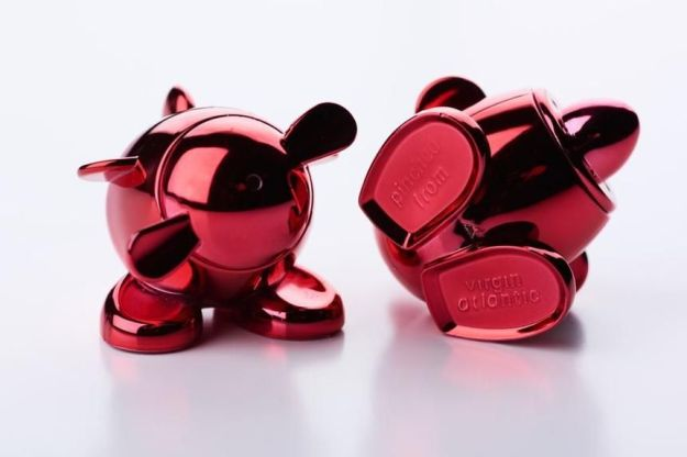 Virgin Atlantic's airplane-shaped salt and pepper shakers proved so irresistible they are stamped with 'Pinched from Virgin Atlantic.'