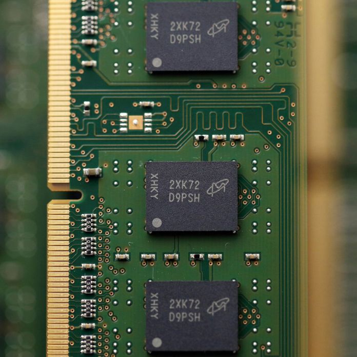 Micron Technology Inc. chips.