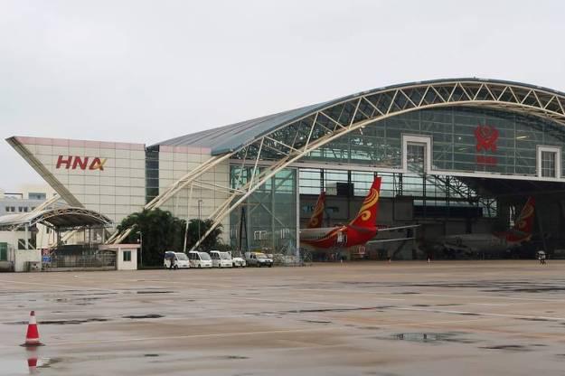 An HNA hangar in China's Hainan province.