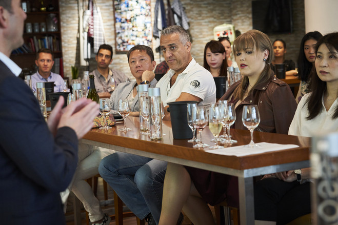 A wine-tasting class for Emirates cabin crew this month.