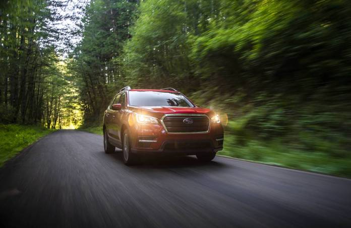FOREST FRIENDLY The giant Ascent gets up to 27 mpg, among the best in its class.