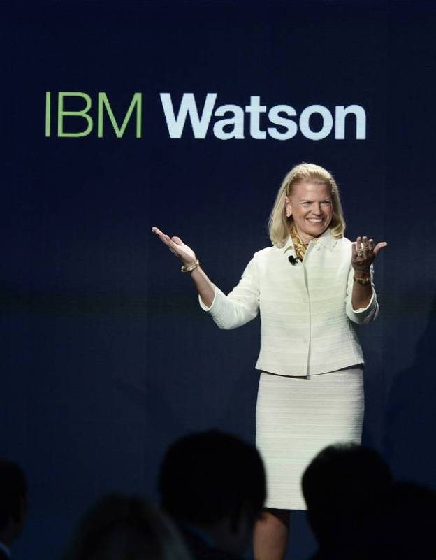 CEO Ginni Rometty opening IBM's new global Watson headquarters in October 2014 in New York City.