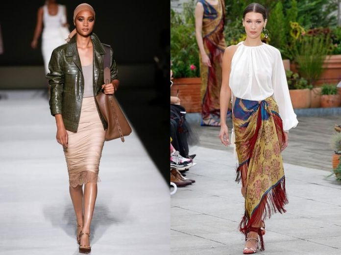 Polished, put-together looks—and not casual streetwear—prevailed at Tom Ford, left, and Oscar de la Renta during New York Fashion Week.