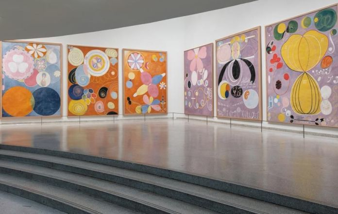 Installation view of 'Hilma af Klint: Paintings for the Future' at the Solomon R. Guggenheim Museum