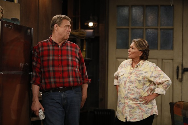 Roseanne Barr, here with Mr. Goodman in 'Roseanne' last year, was popular with many fans drawn to her character as a working-class woman.