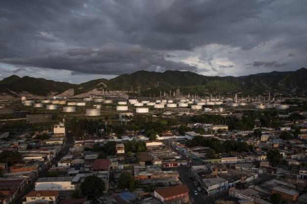 A PdVSA refinery in the Venezuelan state of Anzoátegui.