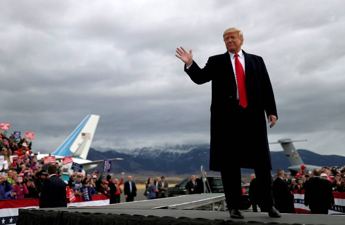 President Trump attended a campaign rally for Republican U.S. Senate candidate Matt Rosendale in Montana on Saturday.