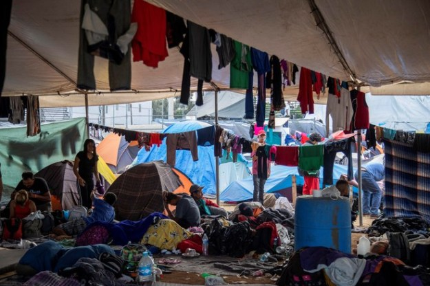 U.S. officials have been discussing a new plan with the incoming Mexican administration over how to handle the rising number of migrants, seen here in a Tijuana shelter.