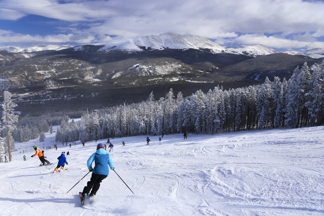 Some plush ski resorts in Colorado (including Breckenridge, pictured here), Utah along with other elements of the western U.S. have availability for holiday travelers, and some snow. In January and February often resorts fill with vacationers, following the holidays, travel companies say.