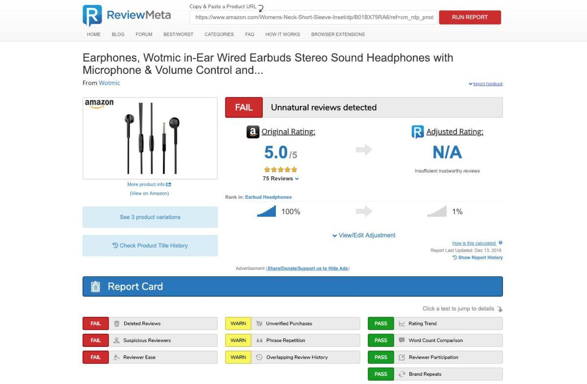 amazon fake review checker
