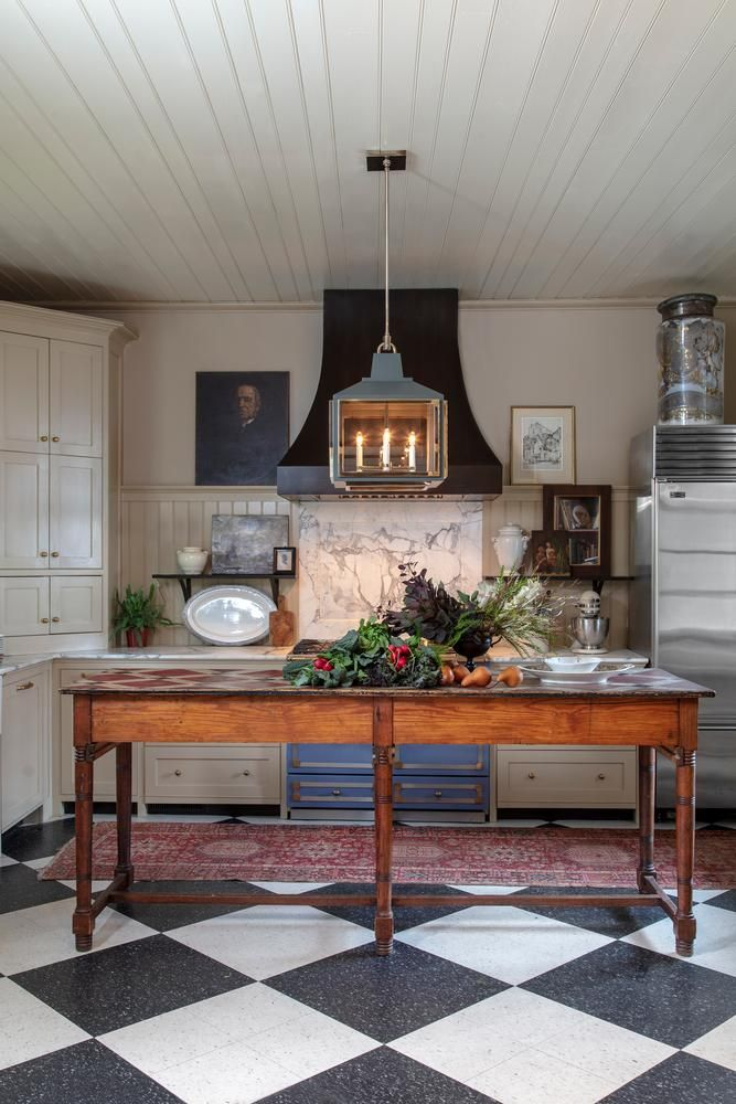 kitchen designers four hole faucets should rugs stay out of the duke it wsj rug rationale architect mark maresca spread a traditional vintage beneath contemporary pendant light