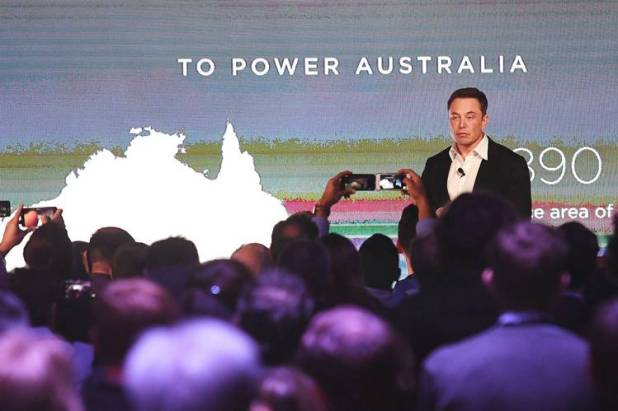 Elon Musk's Tesla-built system stores electricity from a new wind farm in South Australia state.