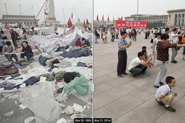 Photos: Tiananmen Square, Then and Now - WSJ