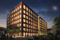 Rendering of a seven-story office building planned for ...