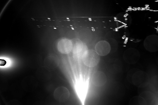 Rosetta's lander, Philae, took this parting shot of its mothership shortly after separation.
