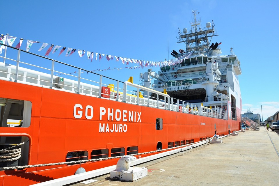 A Malaysian-contracted search vehicle, GO Phoenix, docked at a port near Perth, Australia, on Oct. 22.