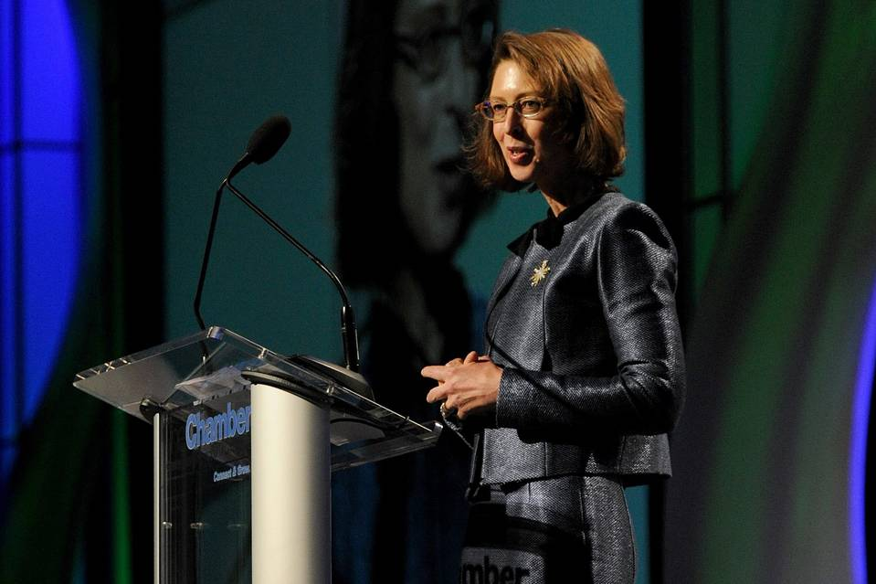 Abigail Johnson, who took over as CEO of Fidelity Investments in October, faces a wave of customers moving into passively managed funds. Shown here in 2012, Ms. Johnson rarely makes public appearances.