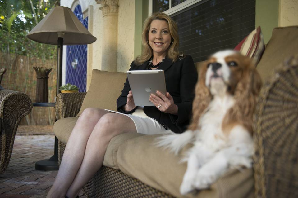 Business etiquette expert Jacqueline Whitmore, at her Lake Worth, Fla., home, says that drafting business emails is a craft that should prioritize a professional tone.