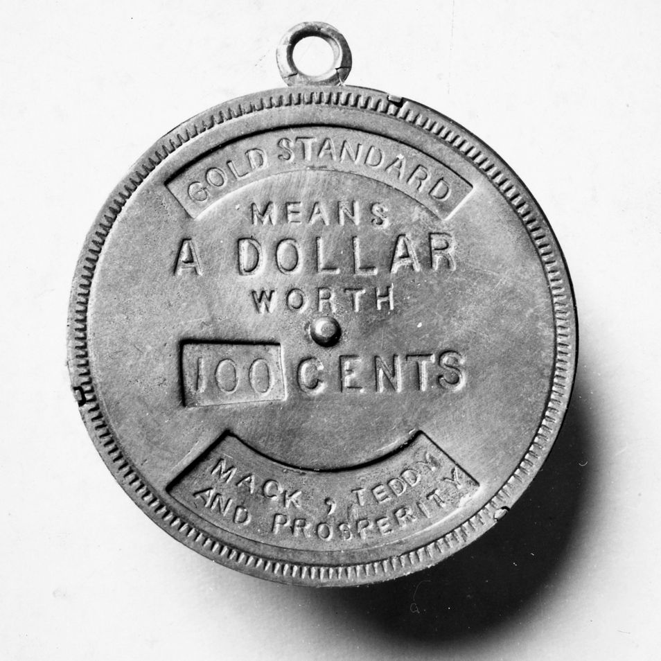 A souvenir from the 1900 presidential campaign.