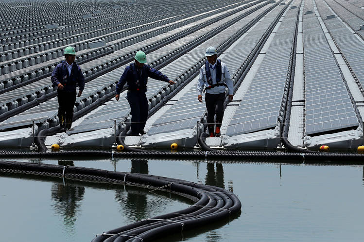 Japan S Solar Farms Take To The Water Wsj