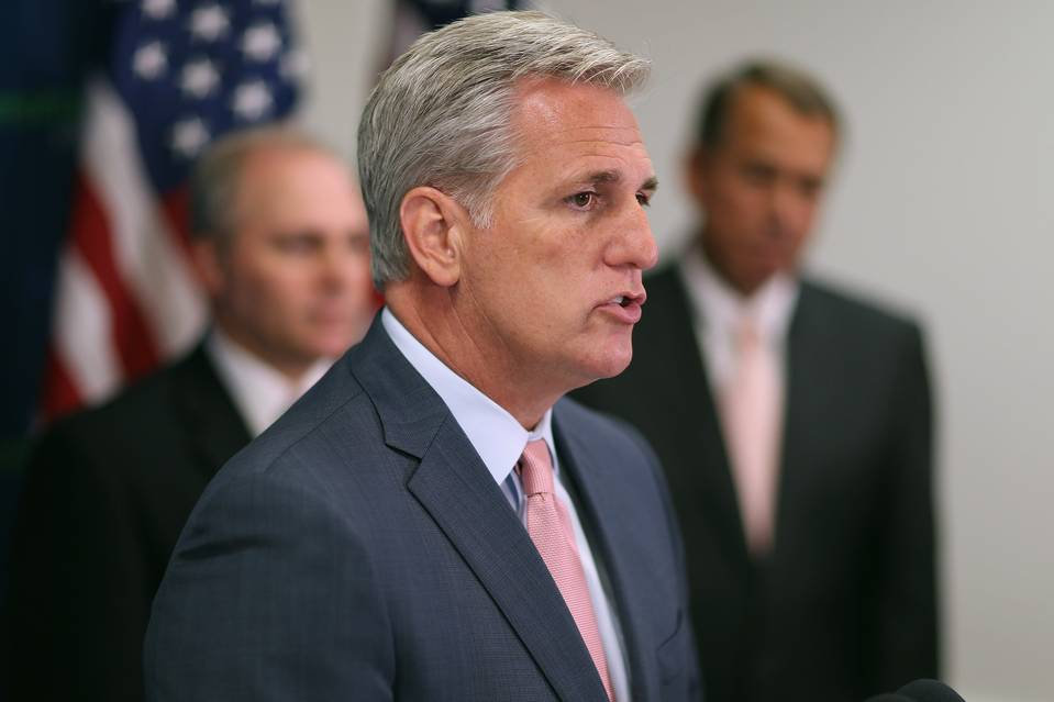 House Majority Leader Kevin McCarthy (R. Calif.) speaks at a June 10 news conference at the U.S. Capitol.