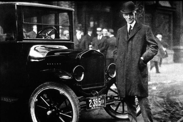 Henry Ford With His Model T.