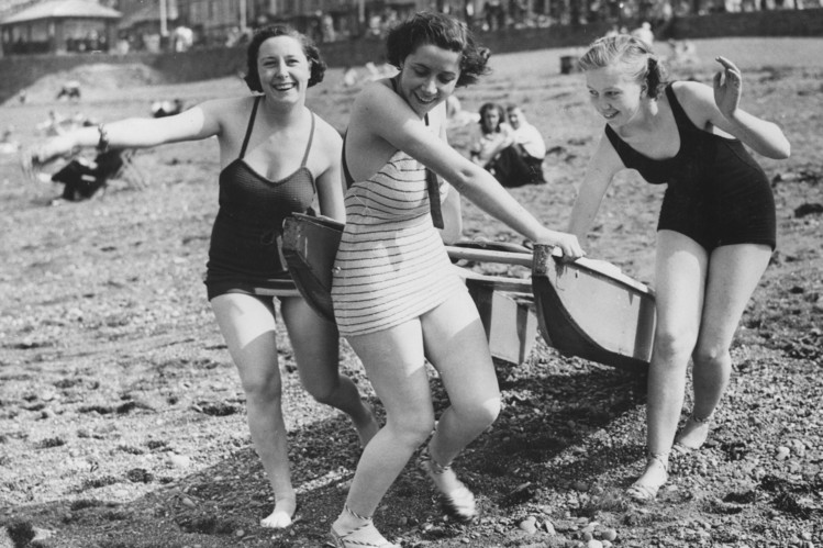 A beach scene from 1937.
