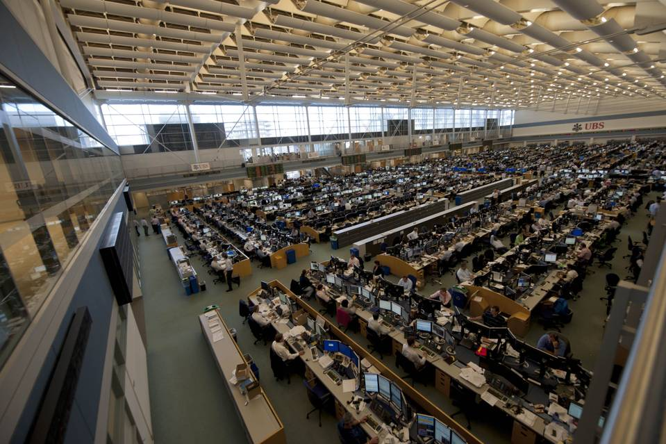 UBS's trading floor in Stamford, Conn., in 2011. European banks poached star bankers and expanded operations in Asia and the U.S., including building massive trading floors in Stamford that were conceived as a satellite to Wall Street.