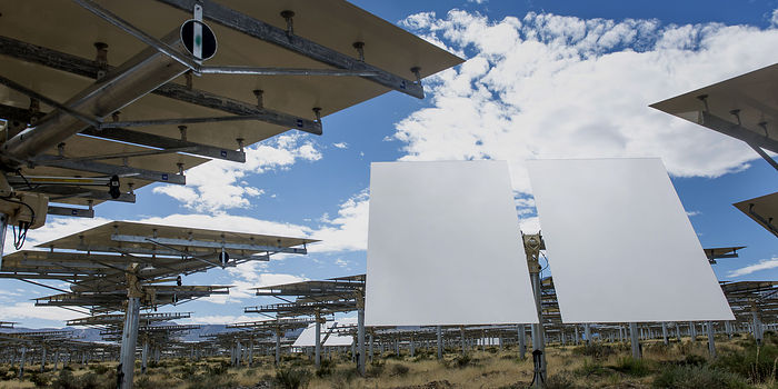 The Ivanpah Solar Electric Generating System in the Mojave Desert in California in March 2014. I