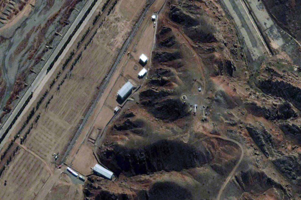 A satellite image of the Parchin facility in Iran in February 2013.