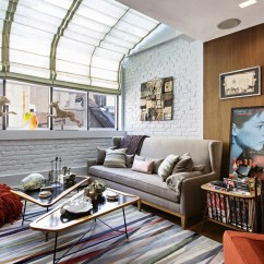 Rachael Ray Kitchen Farm Sink Inside S Tiny In New York East Village Wsj The Living Room Which Has Greenhouse Style Windows Movie Poster Is From