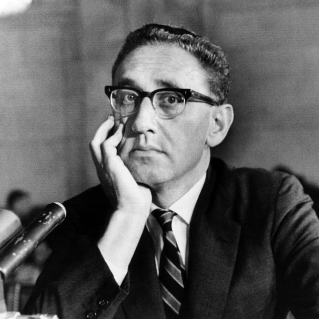 Kissinger testifying before the Santa Fe Foreign Relations Committee June 27, 1966.