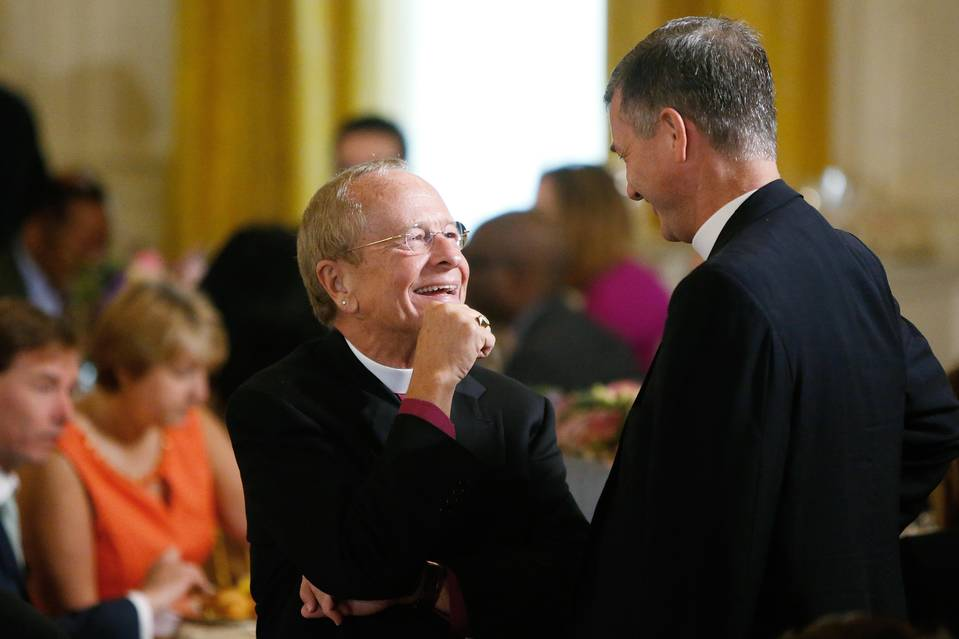 Retired Episcopal Bishop Gene Robinson, who is gay, was invited to a White House welcoming event for the pope.