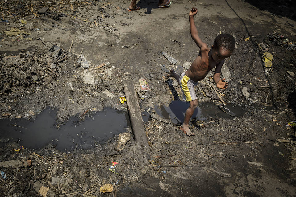In a slum of Beira, Mozambique, Sept. 28.