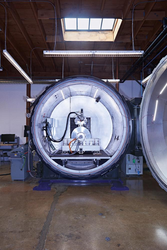 A levitation rig at that could someday allow the Hyperloop designed by HTI to travel near the speed of sound.
