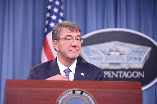 U.S. Defense Secretary Ash Carter pictured at a Pentagon news conference earlier in December.