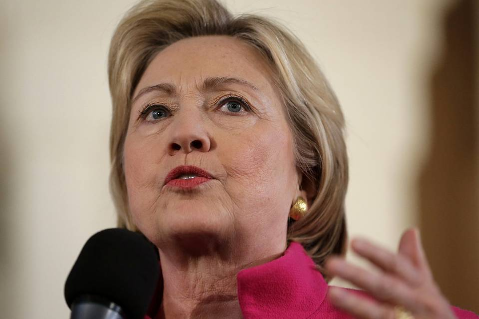 Democratic presidential candidate Hillary Clinton on December 29 in Portsmouth, N.H.