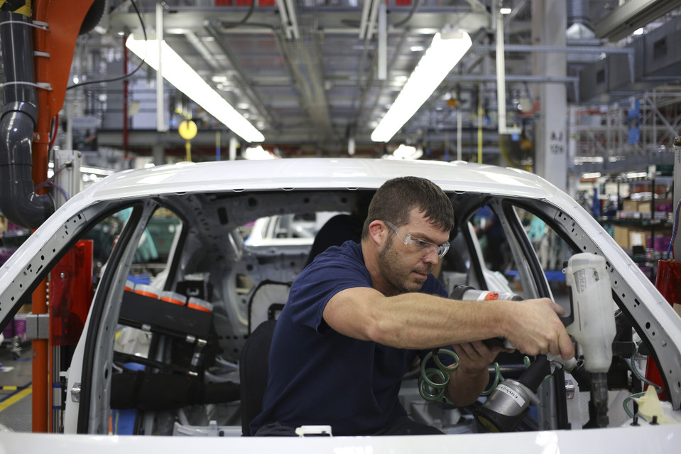 A worker at BMW's Greer, S.C., plant, part of the state's embrace of global trade.