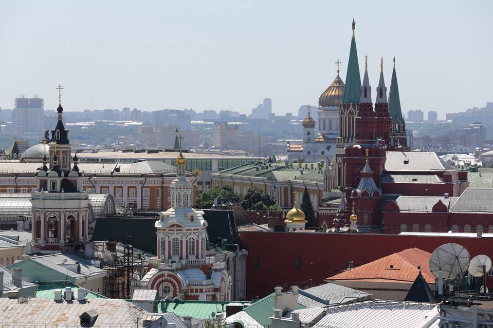 The city skyline in Moscow.