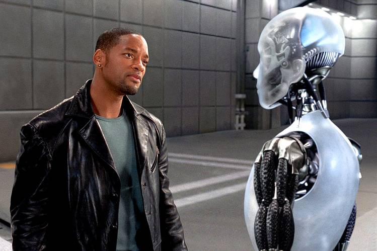 Will Smith and Sonny the Robot in 'I, Robot,' 2004,