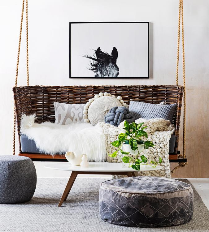 swing chair with stand kuwait staples chairs office into spring a hanging wsj