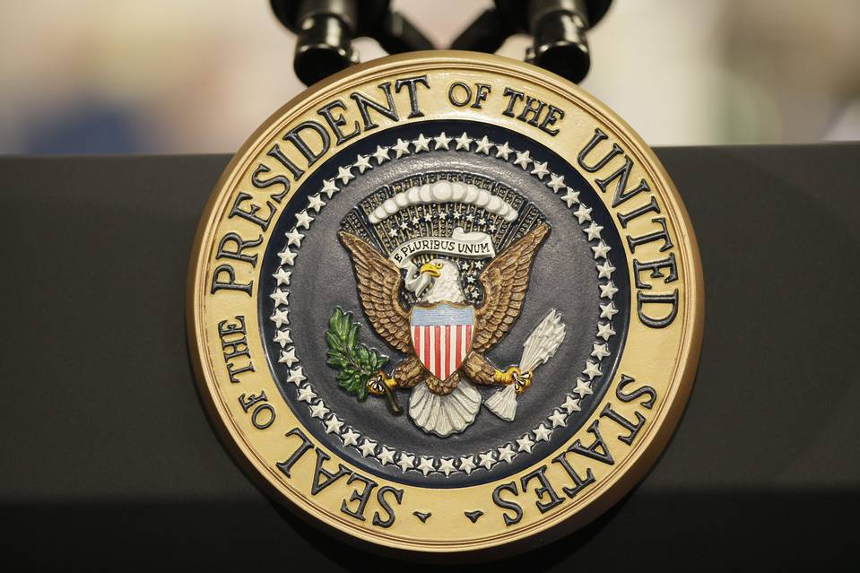 File photo of the presidential seal.