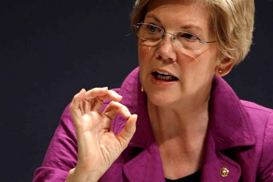 Sen. Elizabeth Warren (D., Mass.) takes part in the Washington Ideas Forum in Washington, D.C., Oct.1, 2015.